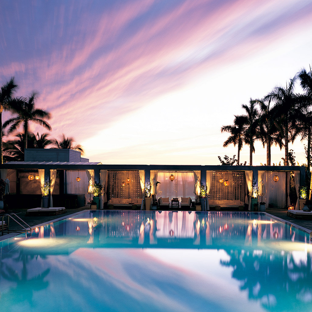 Miami s best hotel pools travel leisure for Best hotel pools