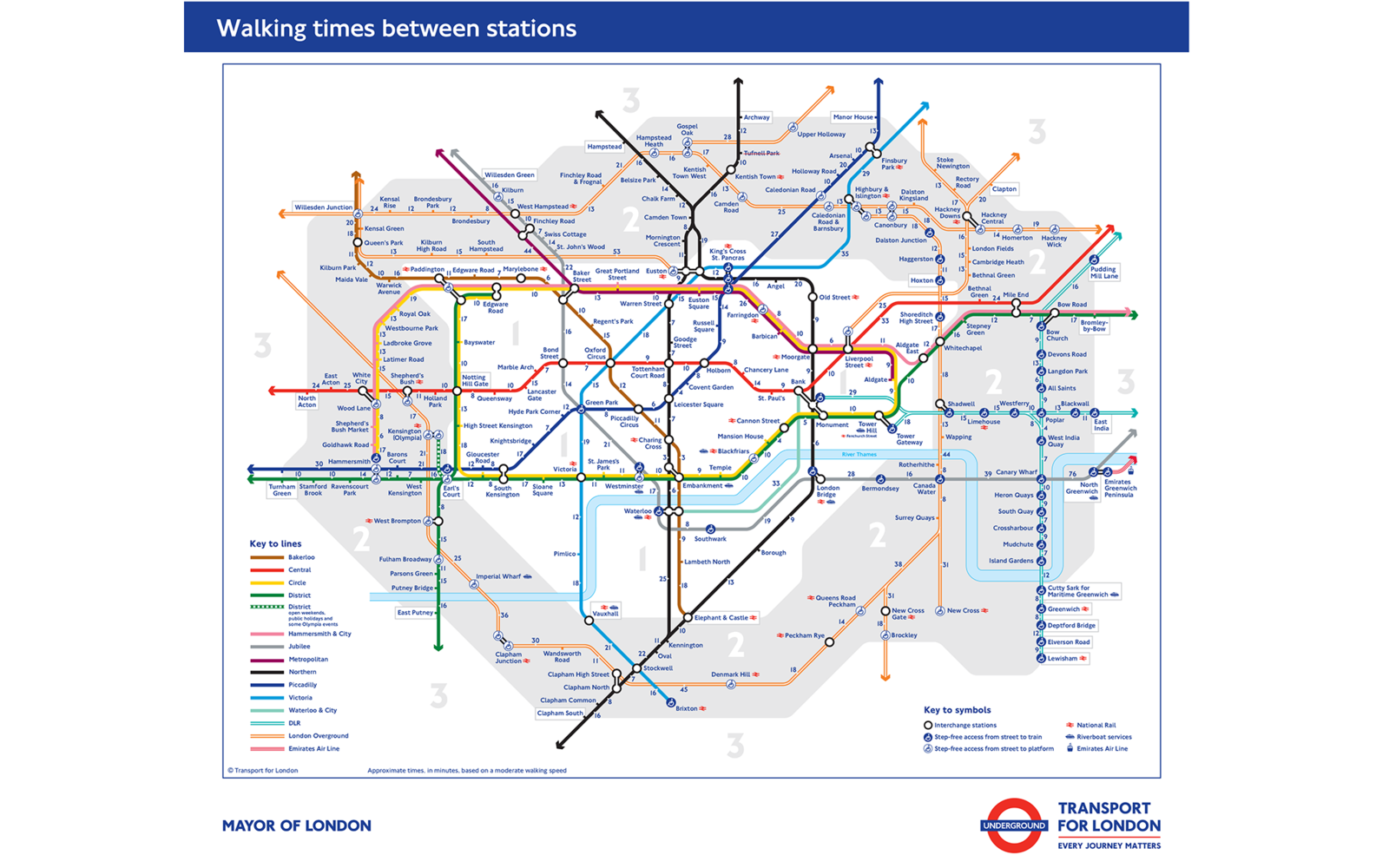 Transport For London Map.London Debuts City Walking Map Travel Leisure