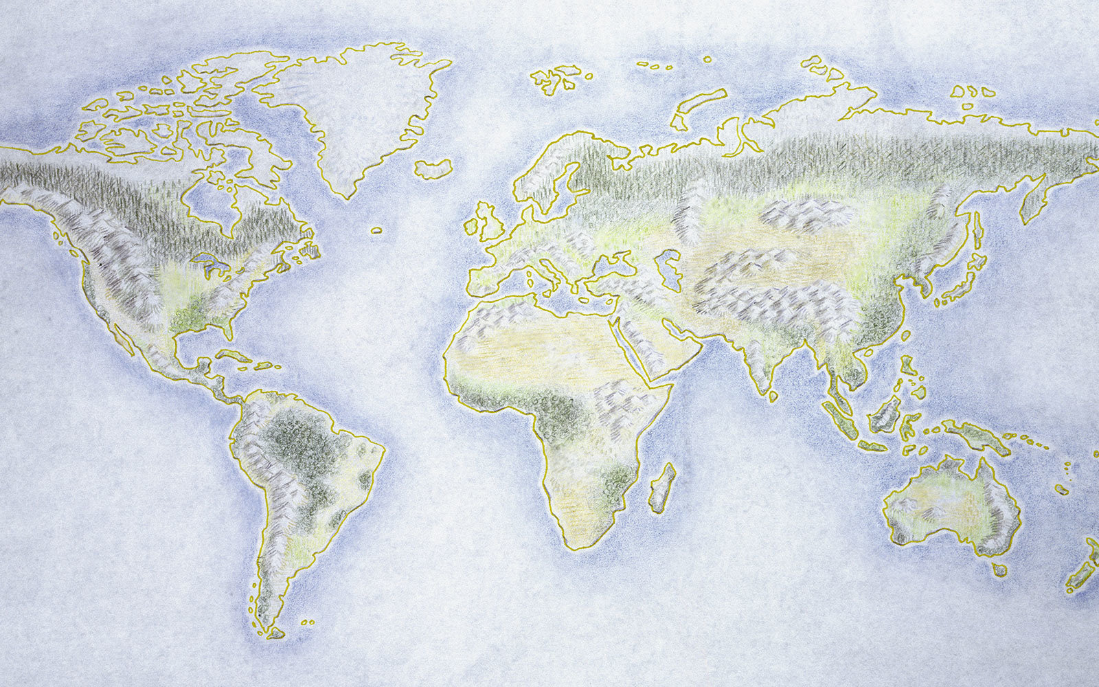 World map illustration
