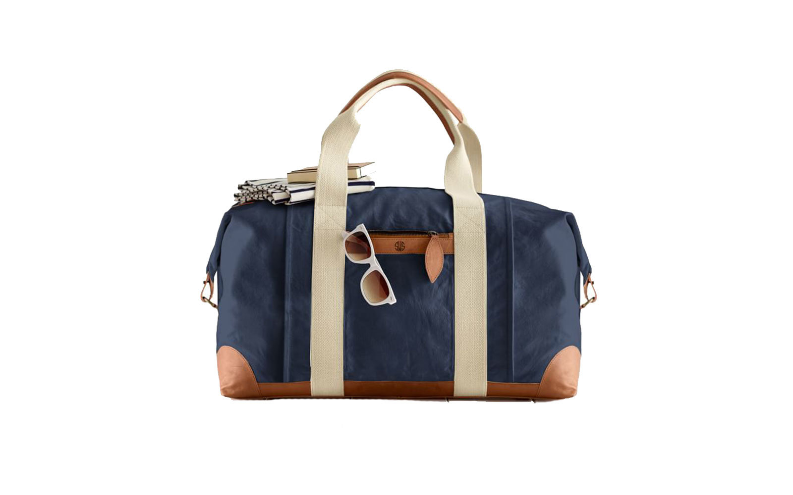 Mark and Graham Canvas Leather Weekender Bag