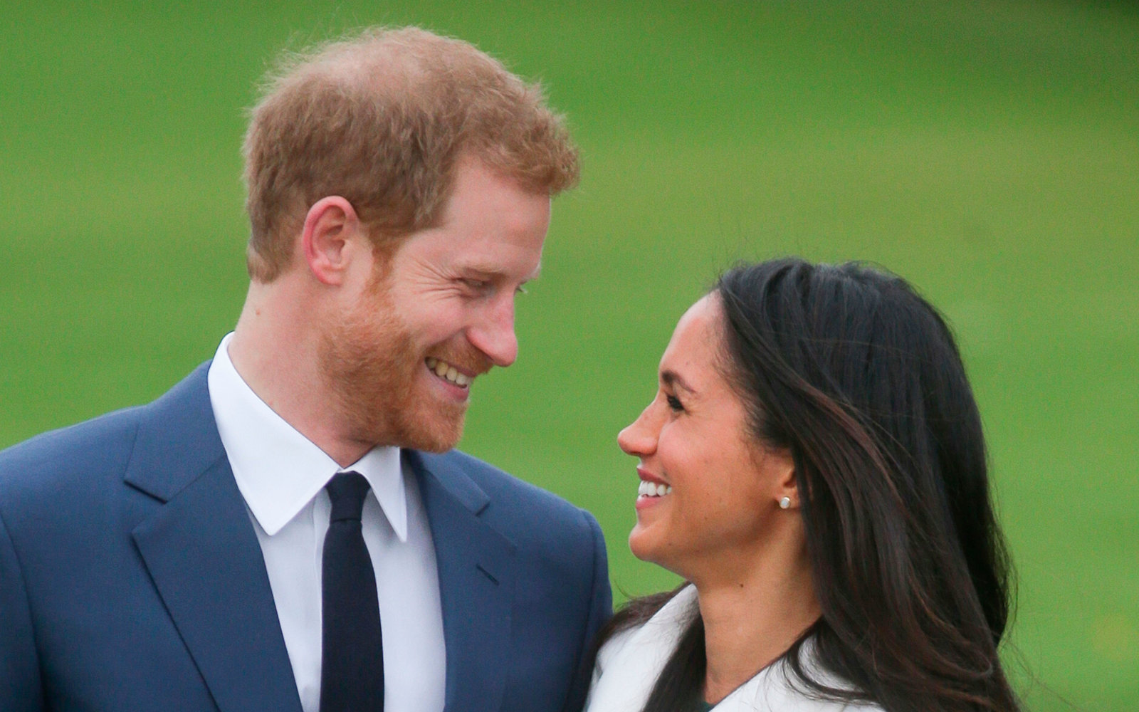 Meghan Markle and Prince Harry announce their engagement at Kensington Palace