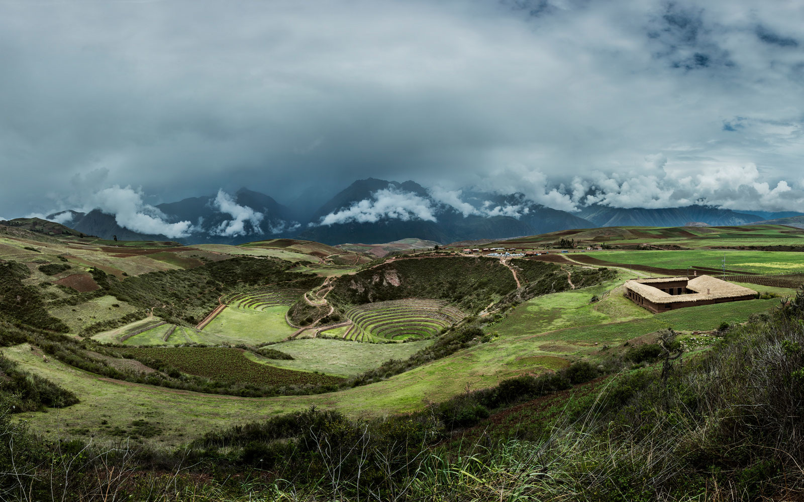 This restaurant is perched on the edge of an Incan ruin in Peru's Sacred Valley