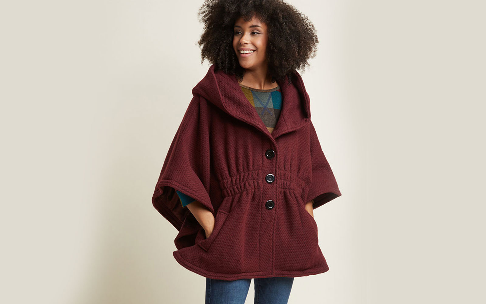 f095e146a67 Modcloth Women s  Hood if I Could  Cape Coat