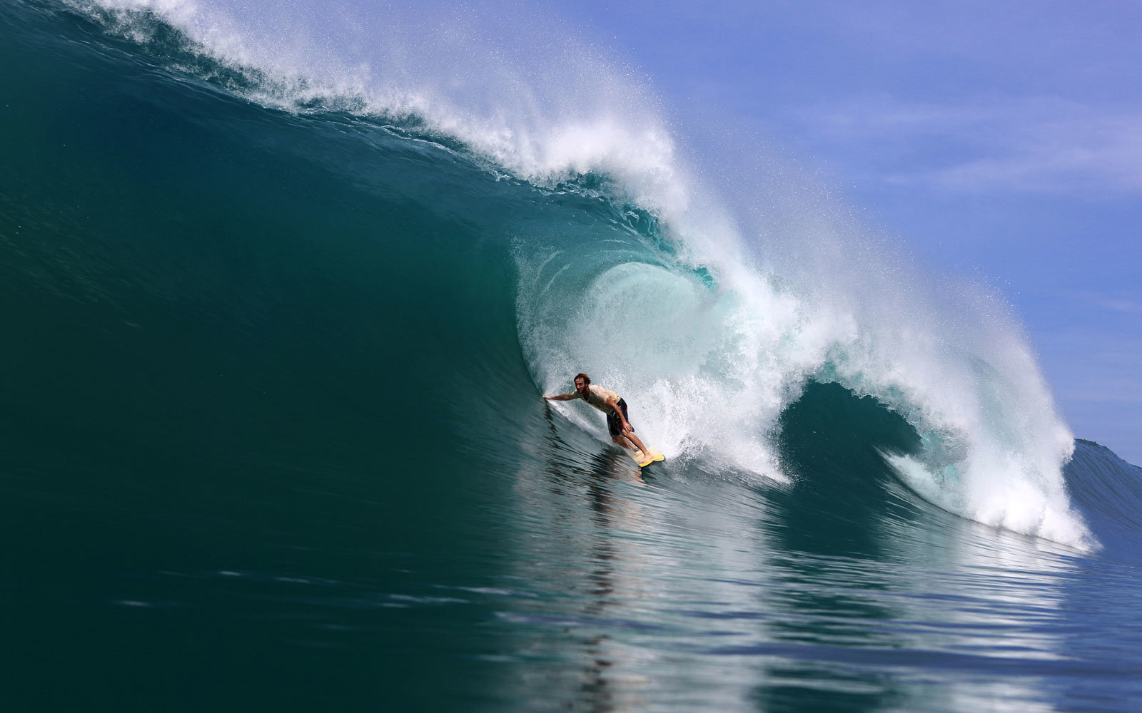 A big wave in Sumatra.