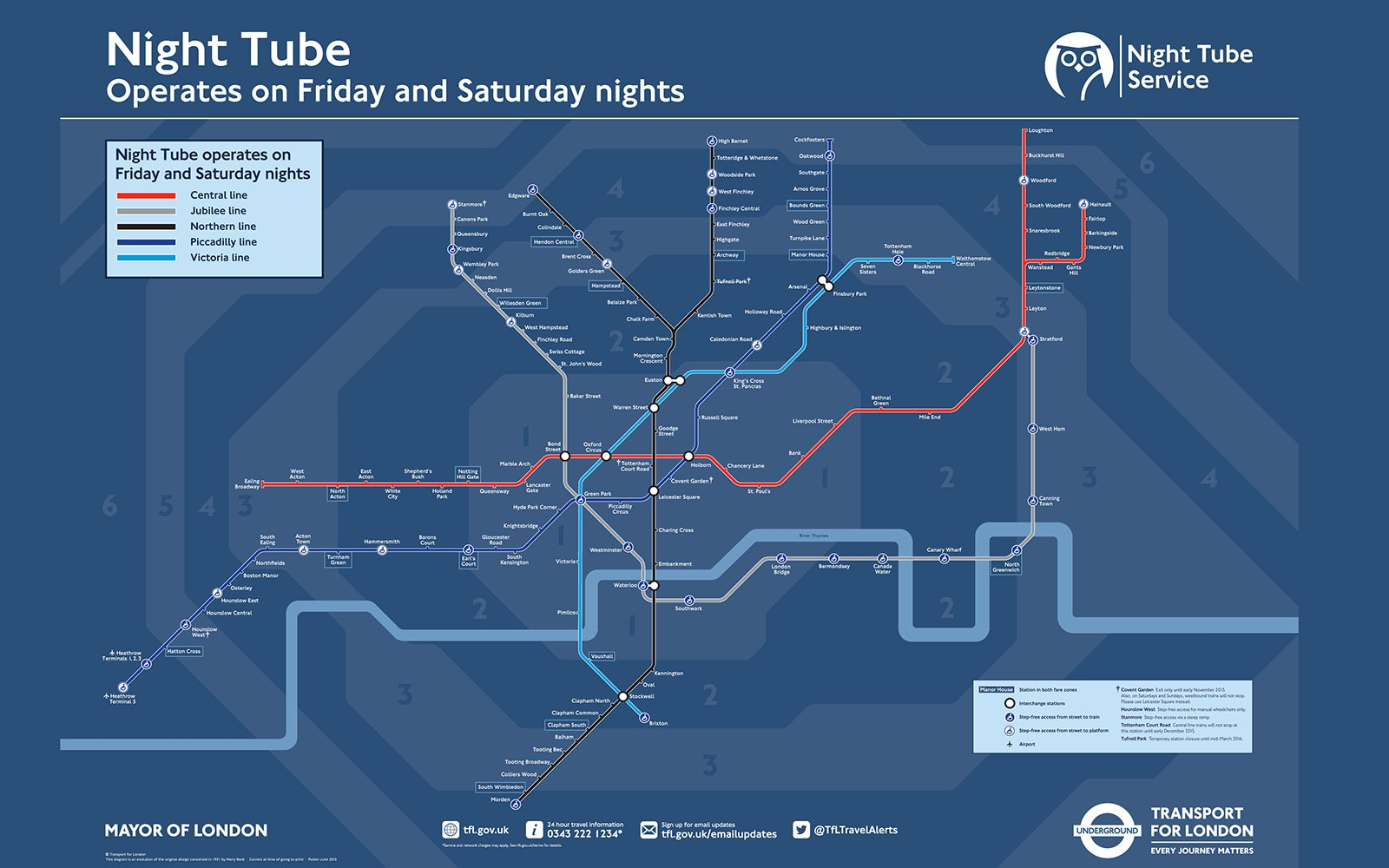 London's 24-Hour Tube Map