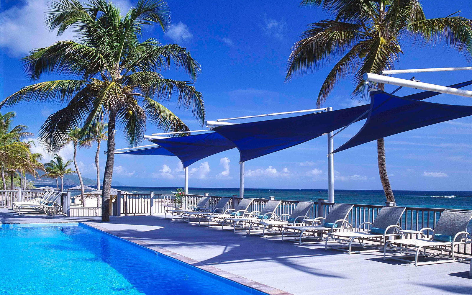 guest pool at Nisbet Plantation Beach Club, Nevis