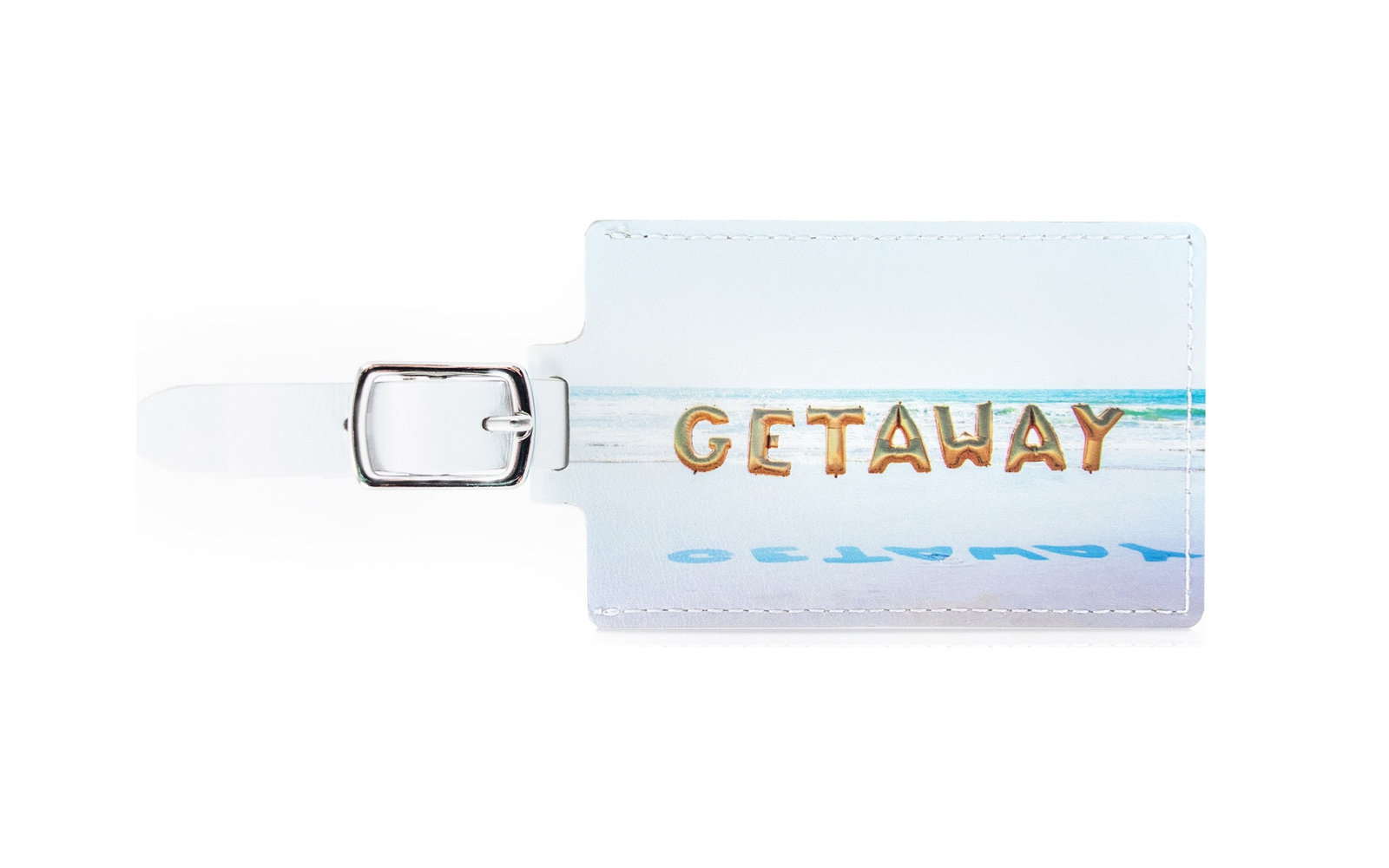 cute gray malin luggage tag