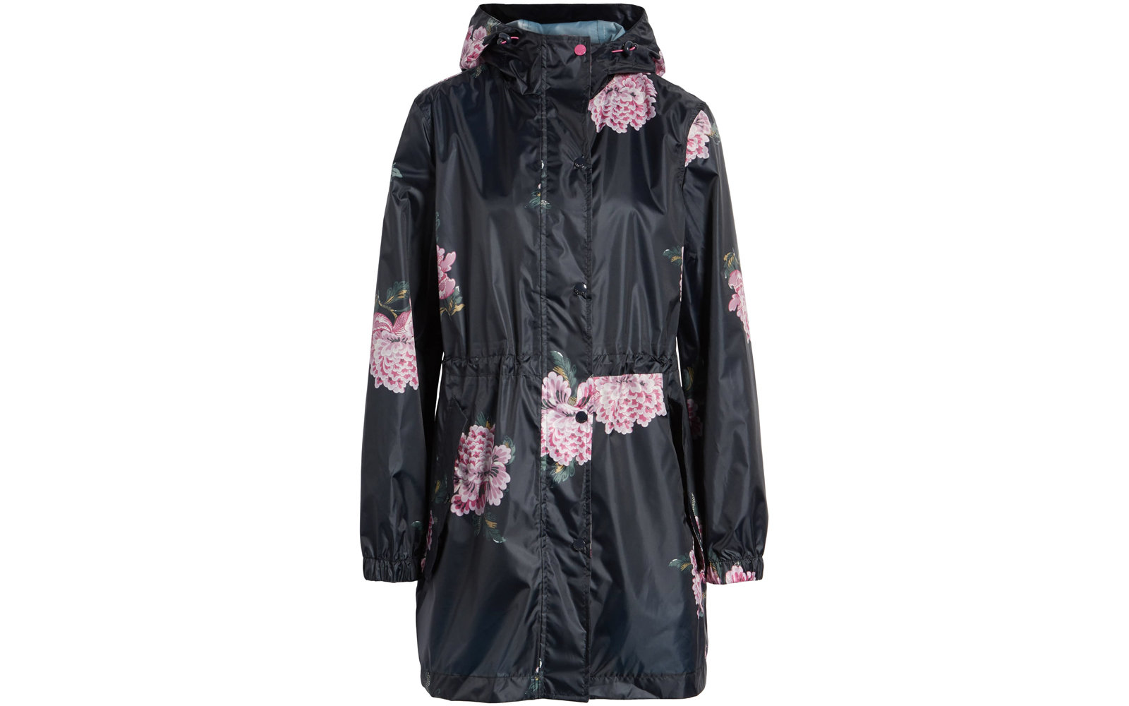 Joules 'Right as Rain' Packable Print Hooded Raincoat