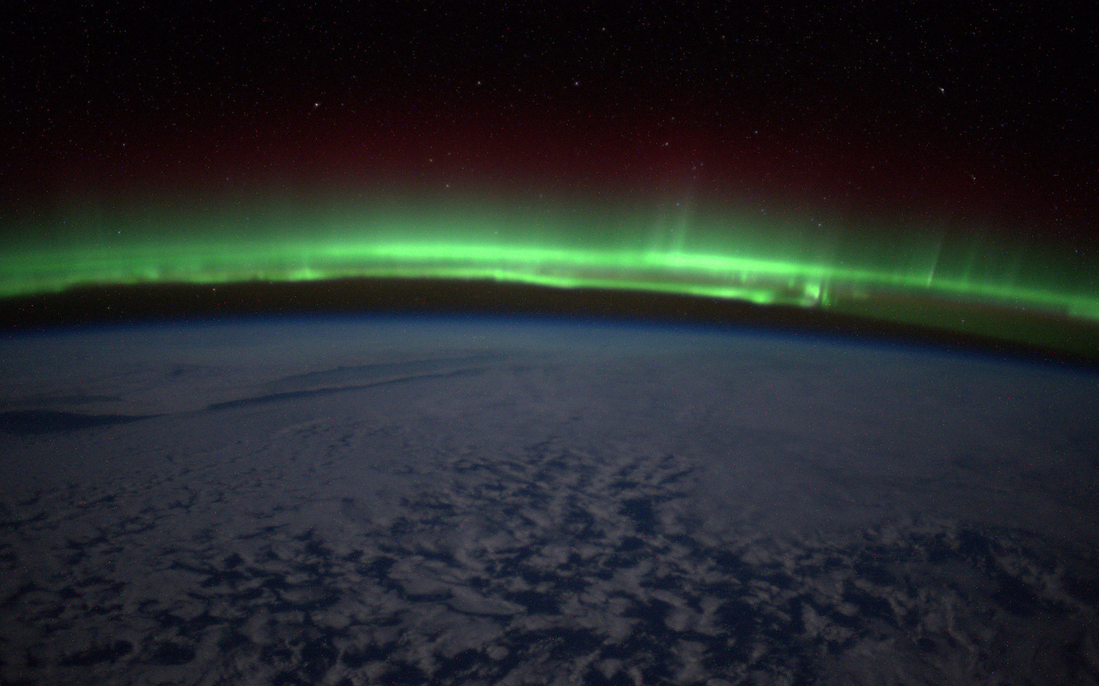 northern lights from outerspace