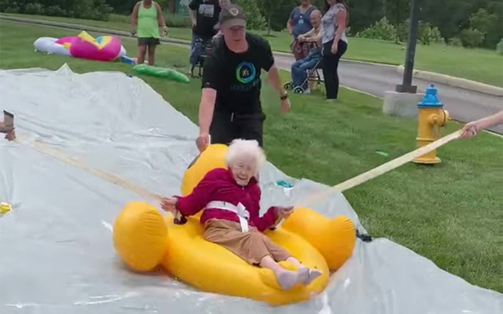 nursing home slip and slide