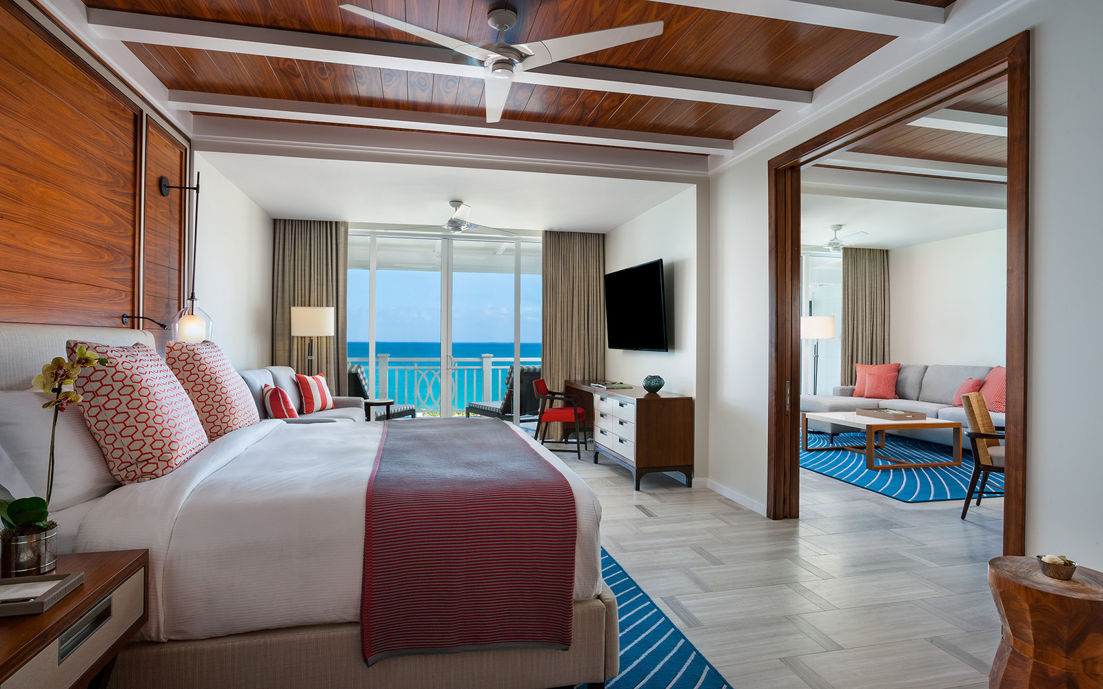 guest room at One&Only Ocean Club in Paradise Island, Bahamas