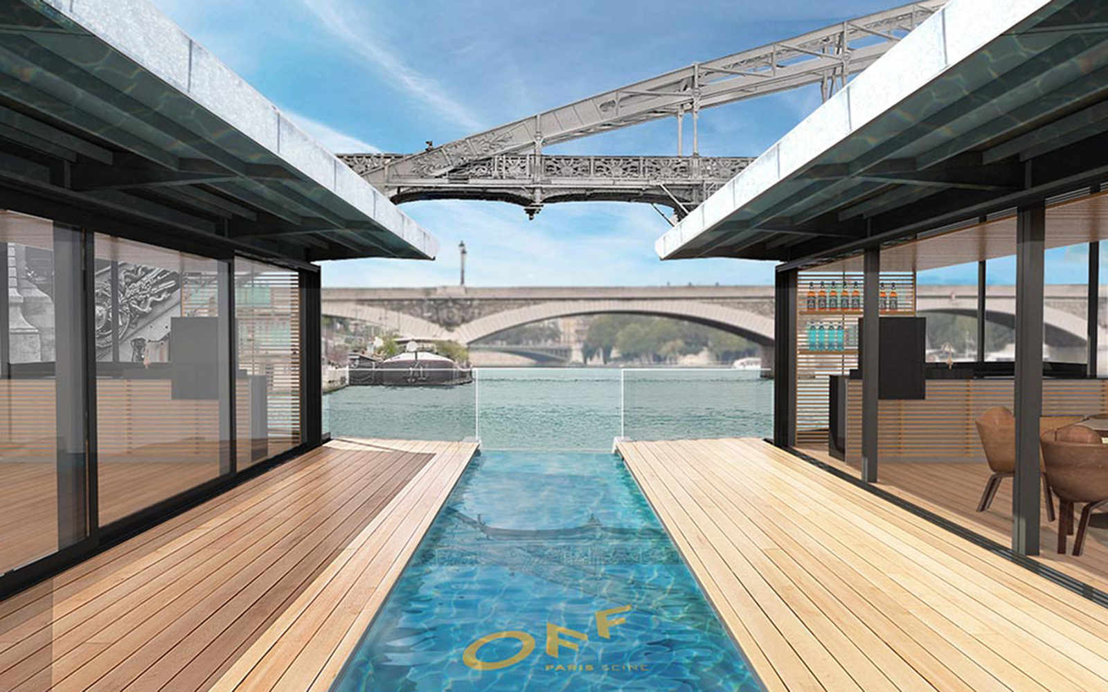 Paris to welcome a floating hotel on the seine travel for Floating swimming pool paris