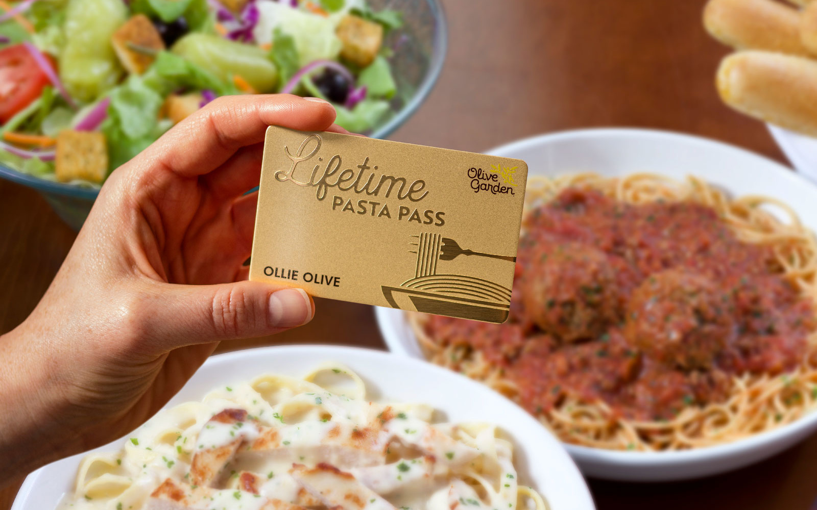 Now's your chance to buy an Olive Garden Lifetime Pasta Pass