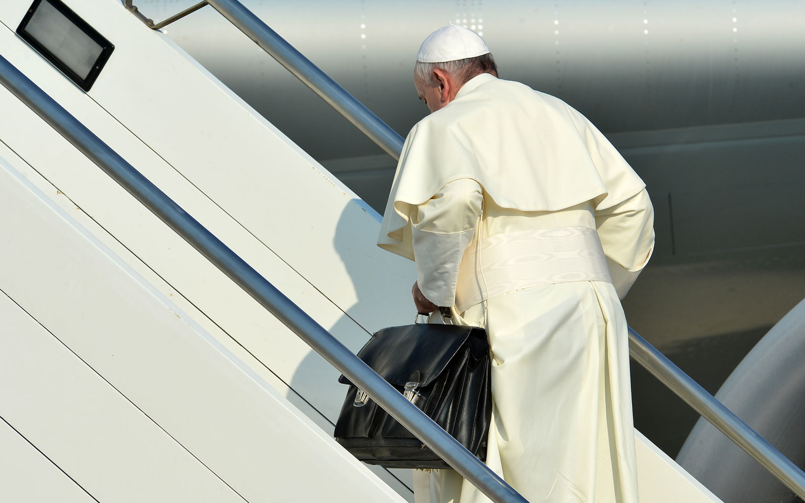 Pope Francis carry on bag