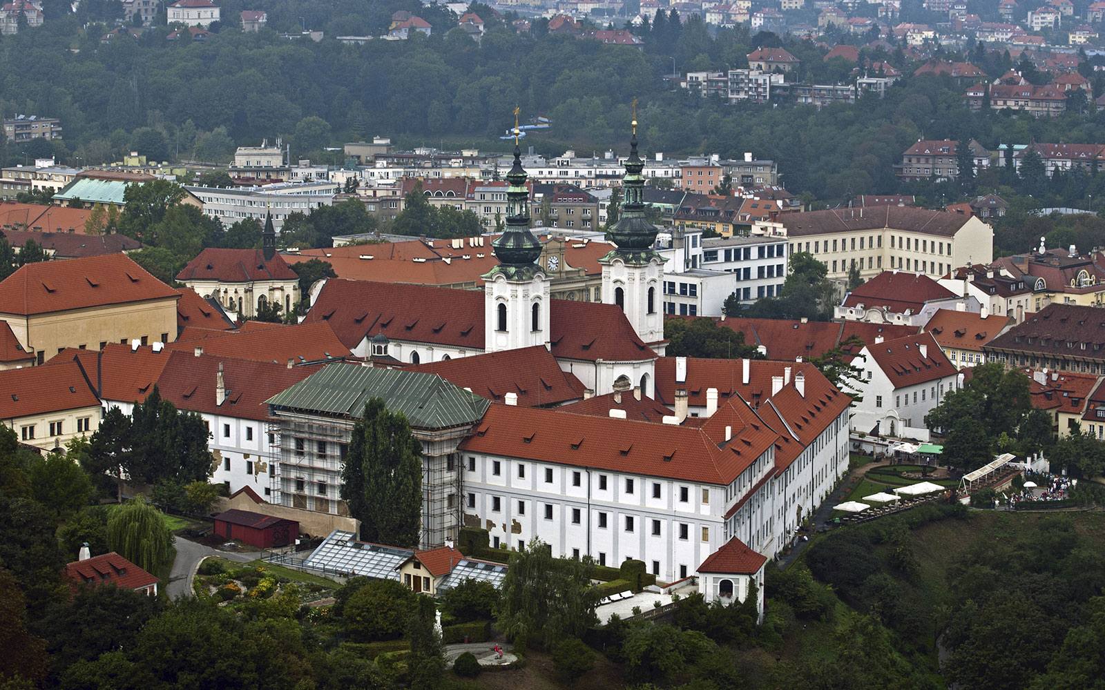 Strahov Monastery hotel in Prague, Czech Republic