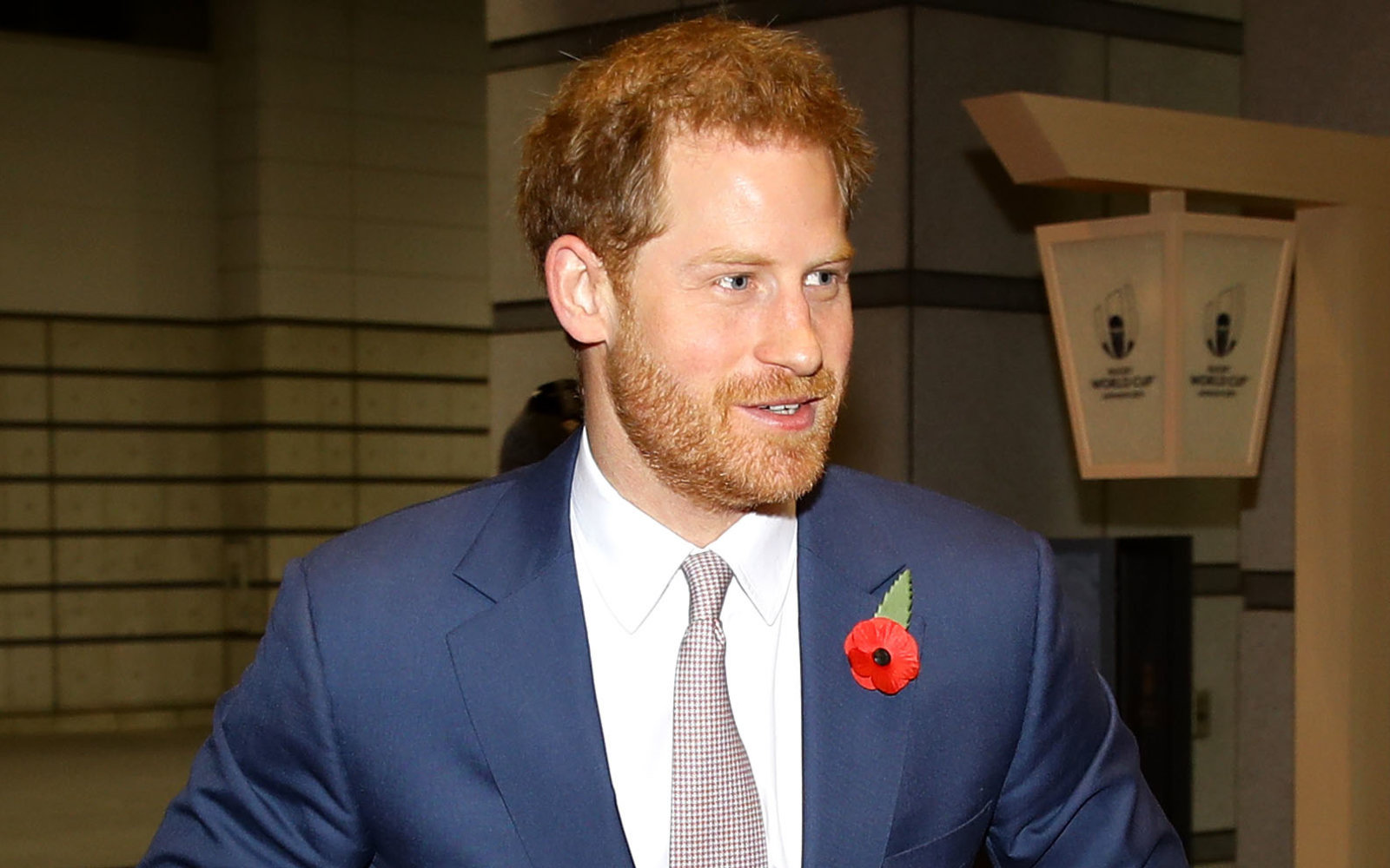 Ever the dedicated sports fan, Prince Harry flies commercial to catch rugby game