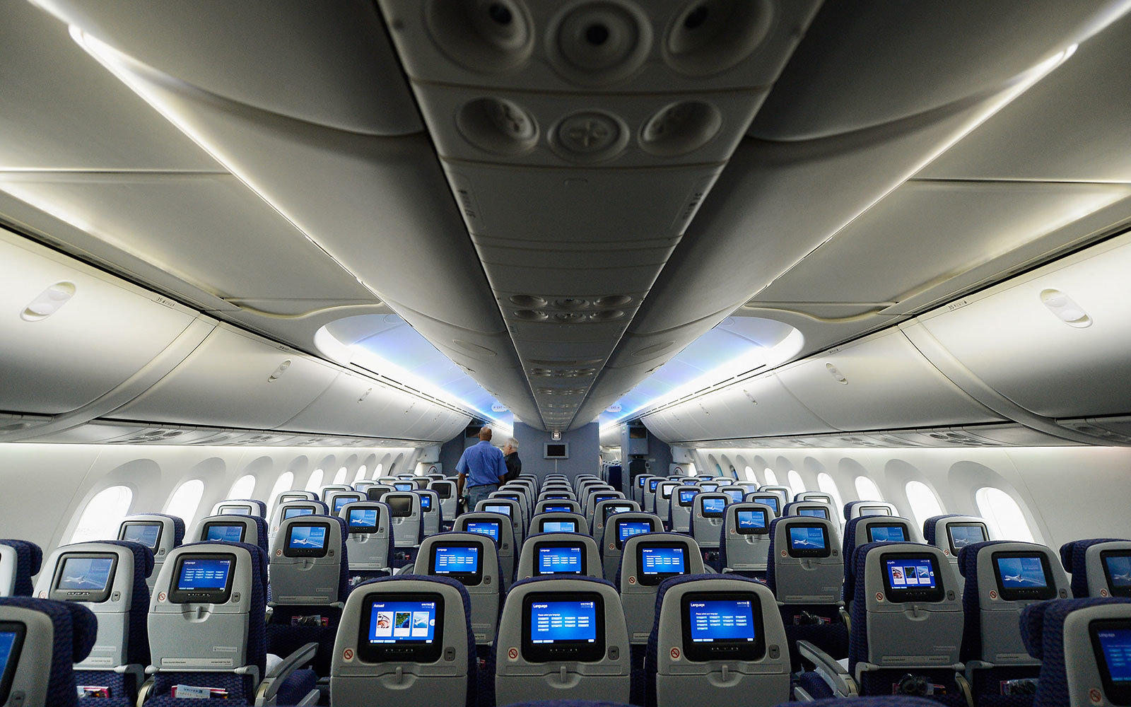 United Airliens Economy Class seats