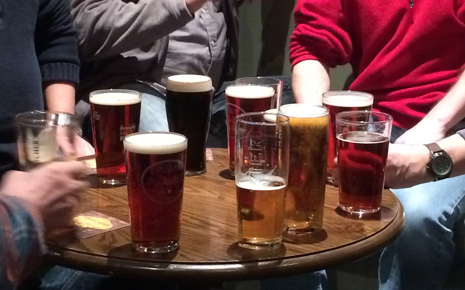 Beer in pub in England