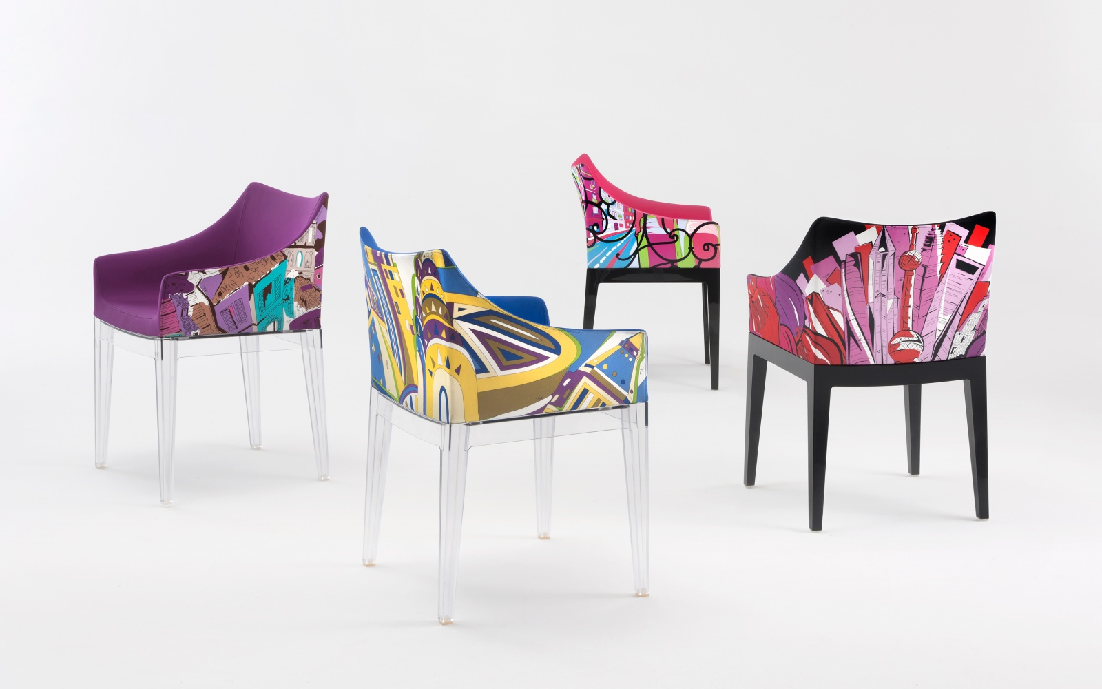 kartell unveils chair designed by philippe starck and emilio pucci travel leisure. Black Bedroom Furniture Sets. Home Design Ideas