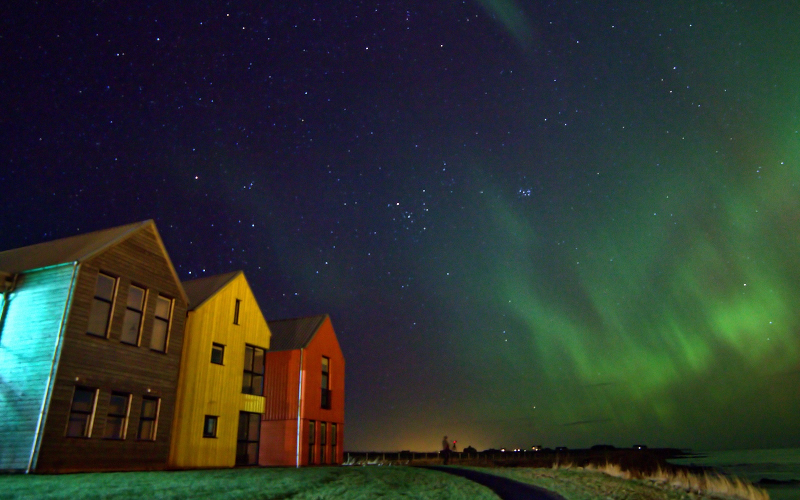Northern Lights over Inn at John O'Groats