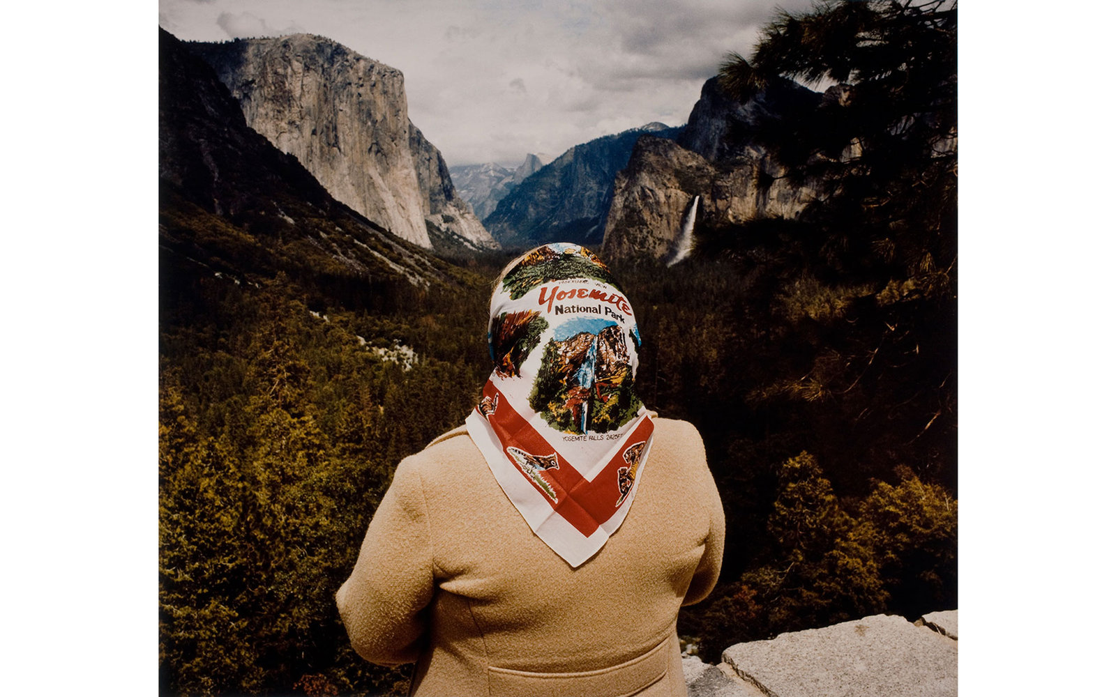 Woman with Scarf at Inspiration Point, Yosemite National Park, 1980; from the series Sightseers