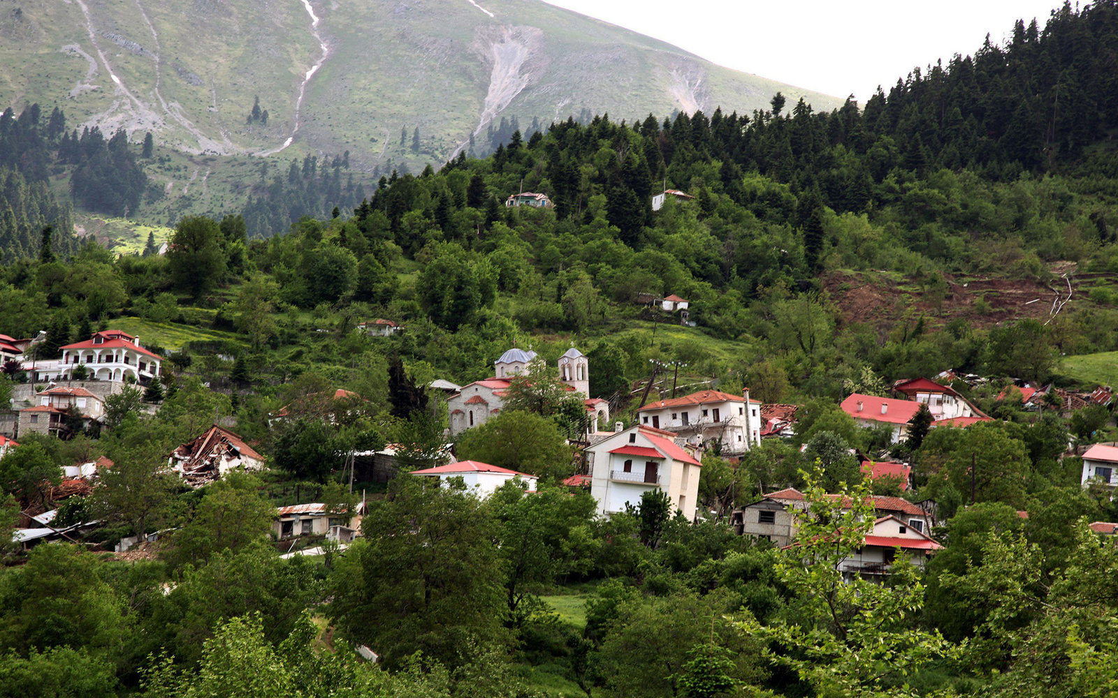 Tour Greece's Abandoned Ghost Town Before it Slides Down a Mountain