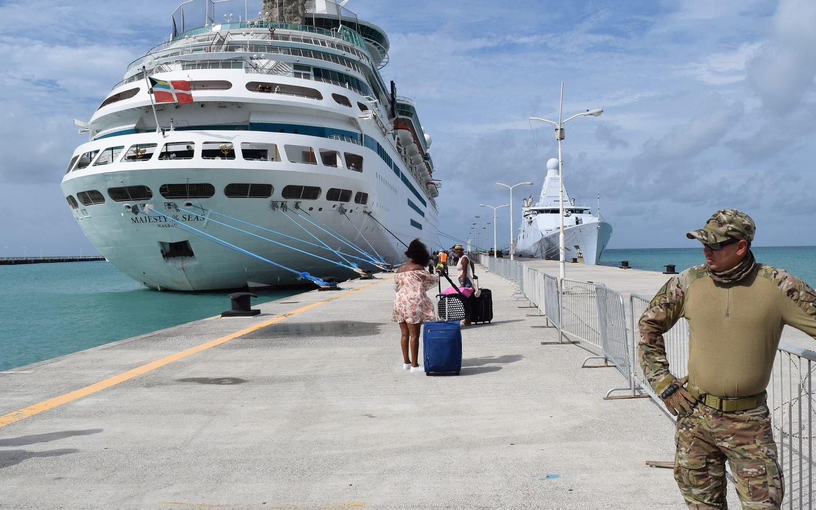 Saint Martin cruise ship after Hurricane Irma