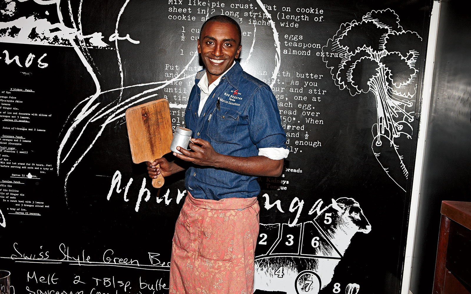 Why Chef Marcus Samuelsson Is Happiest Dining on Chicken Stew and Sipping a Beer Cocktail