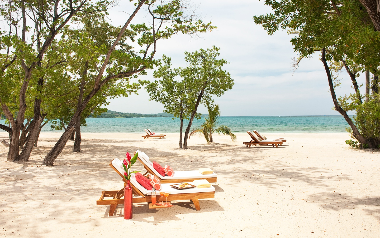 private beach at Sandals Whitehouse European Village & Spa, Jamaica