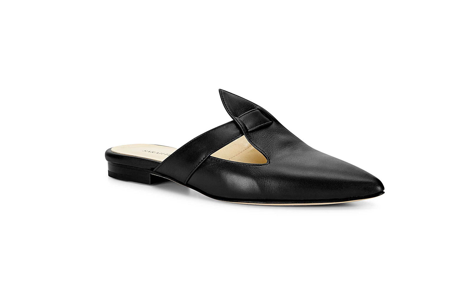 Sarah Flint Abigail Slide Handcrafted in Italy in Black Suede