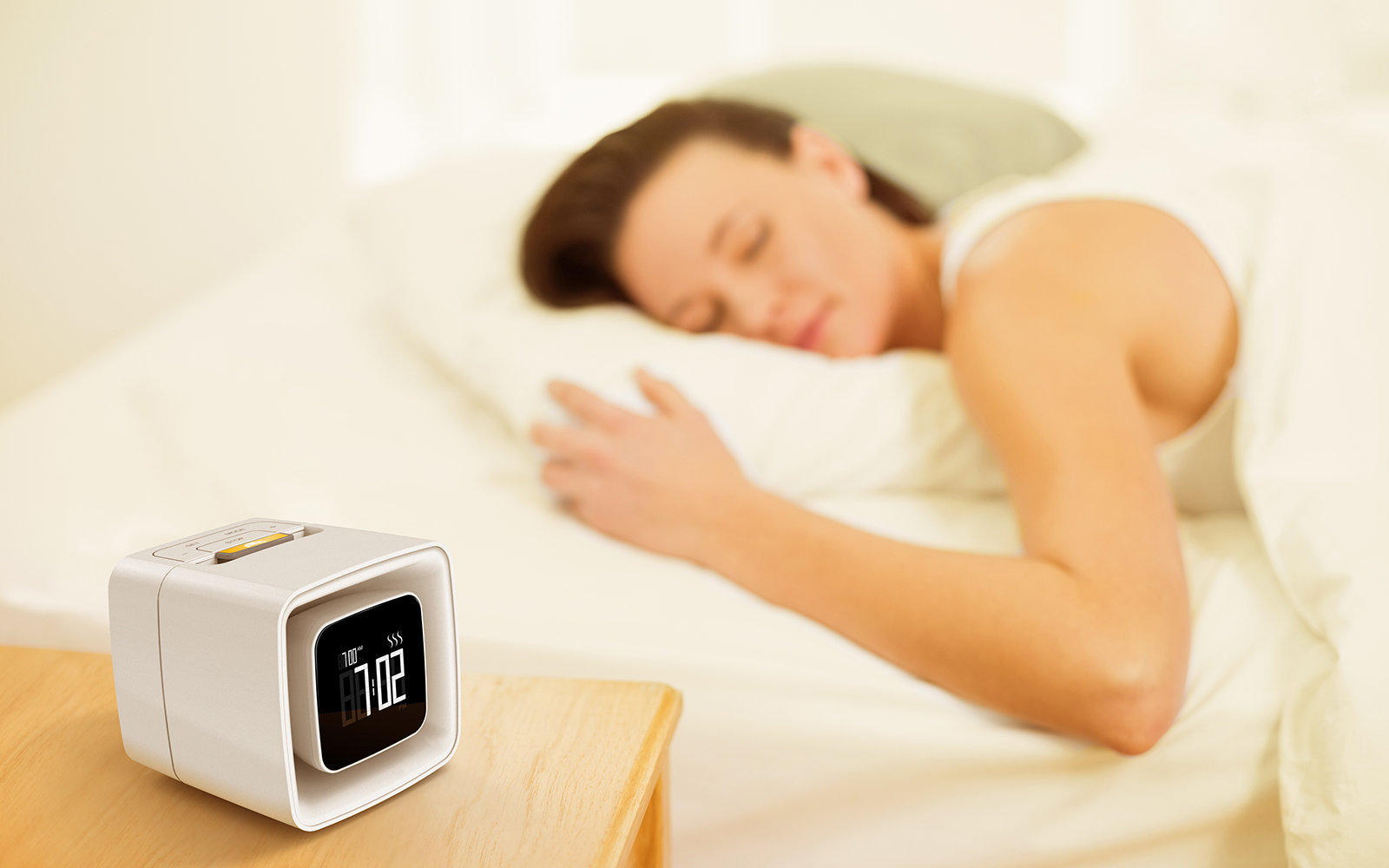 Sensory alarm clock wakes you up to certain smells