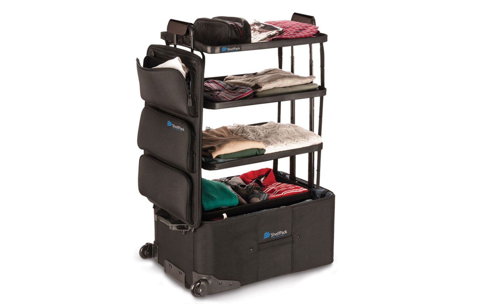 Game-Changer: Genius Suitcase Has Built-In Shelves