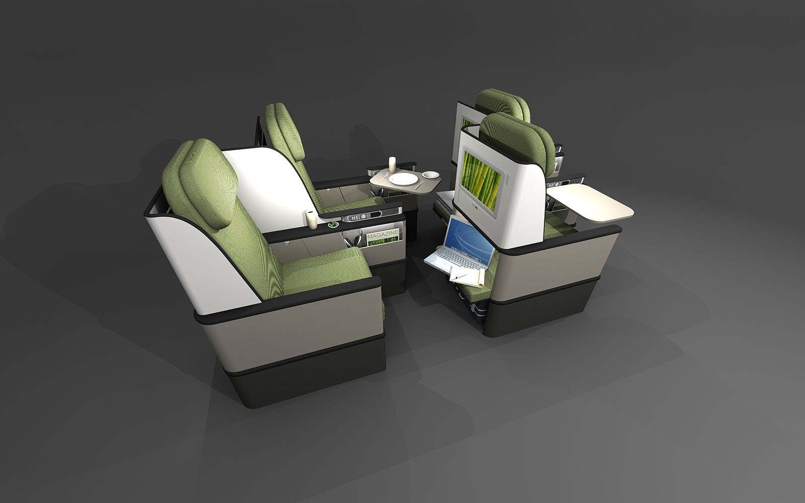 Short-Haul Premium Seat Concept – by paperclipdesign