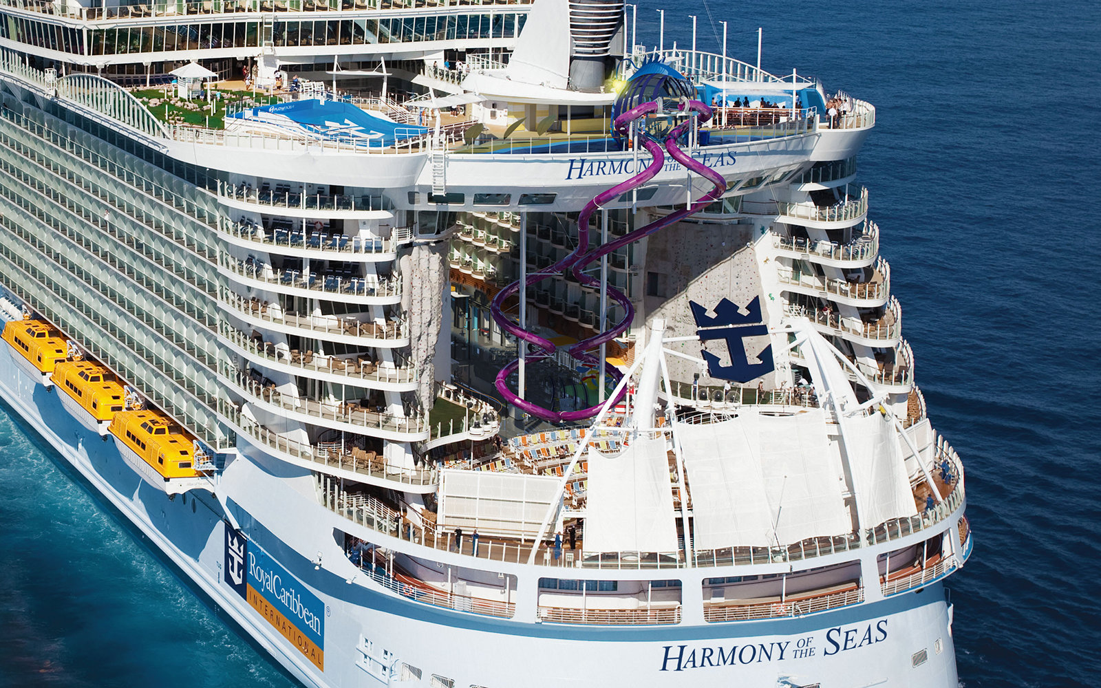 Royal Caribbean Builds Worlds Coolest Ship Slide Travel Leisure - Harmony cruise