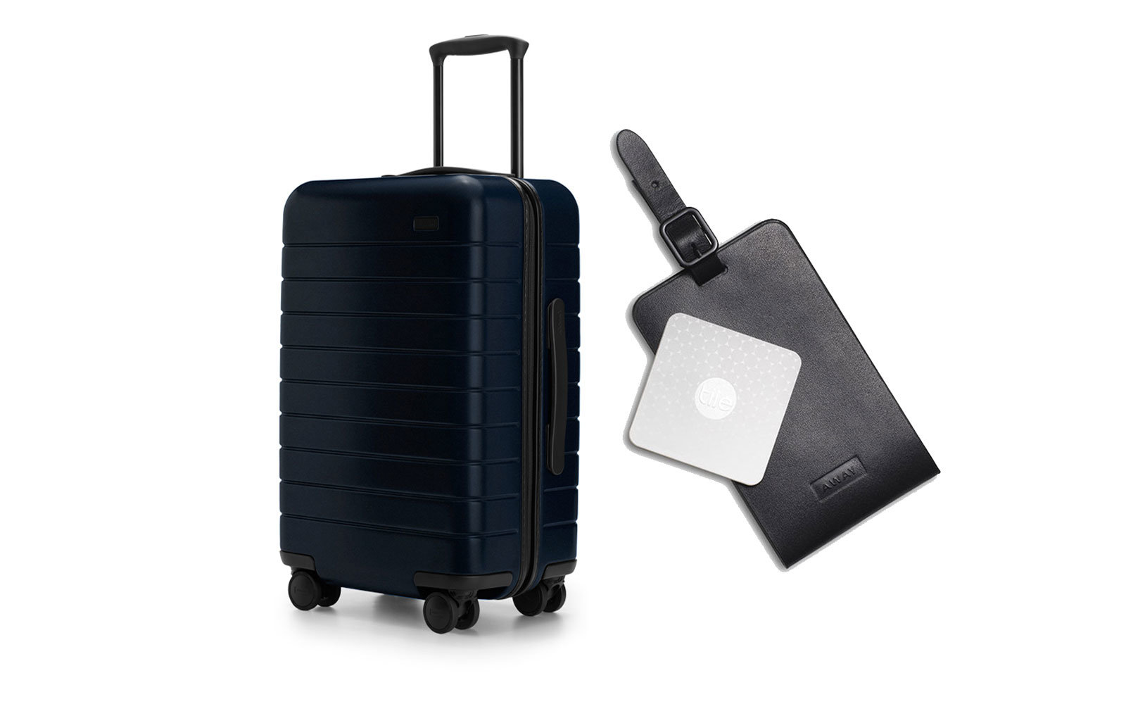 Hardshell Wheeled Carry-On and Smart Luggage Tracker