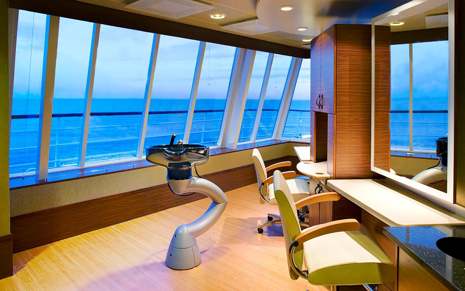 Massage at the spa on board the Crystal Symphony