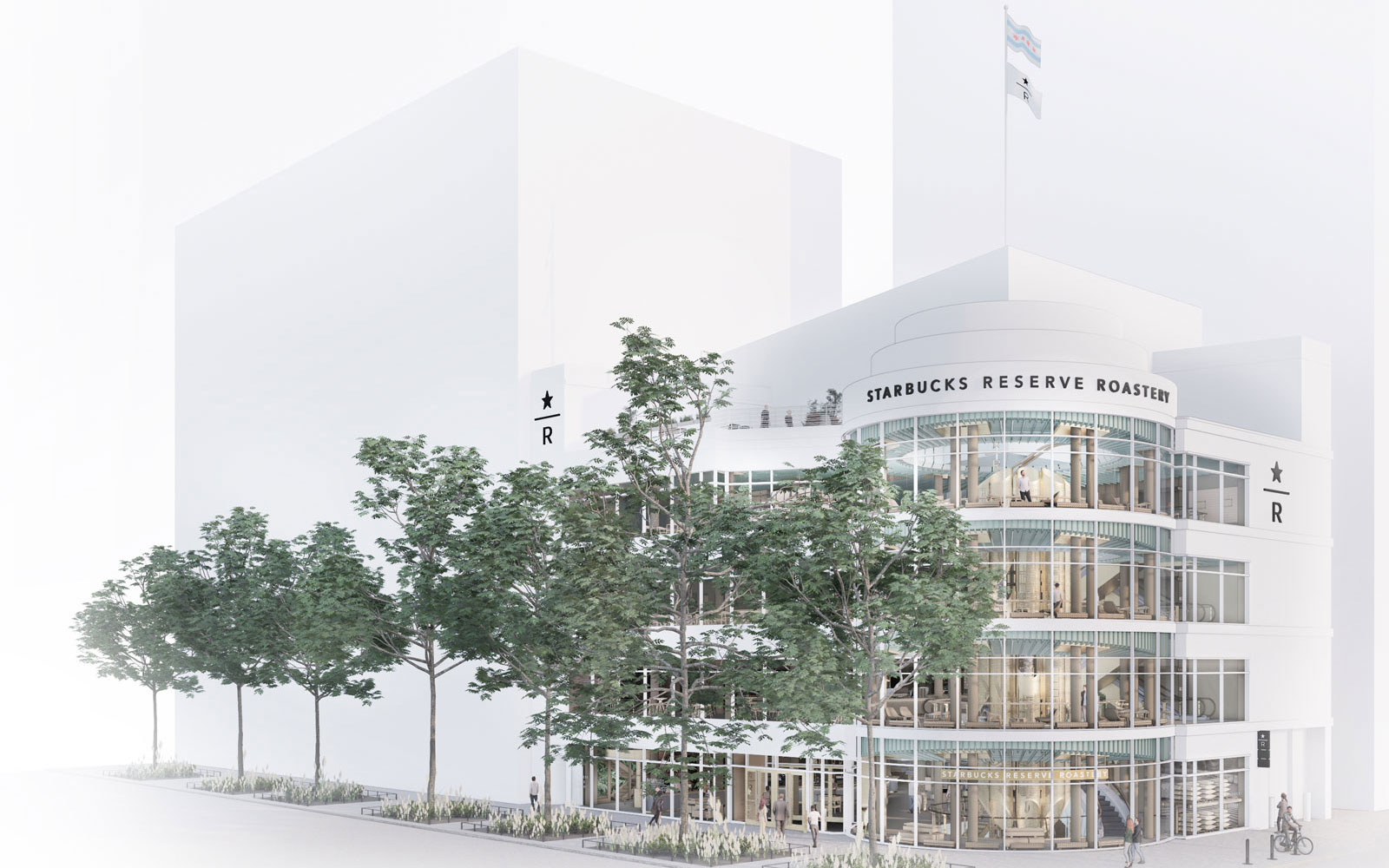 The world's largest Starbucks is opening in Chicago this fall