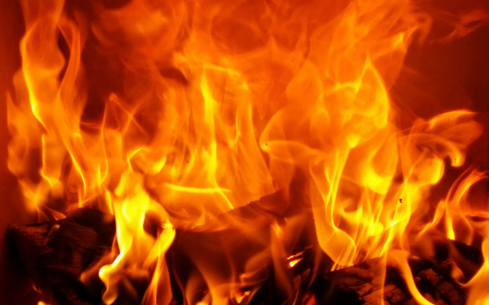 Close-up image of flames