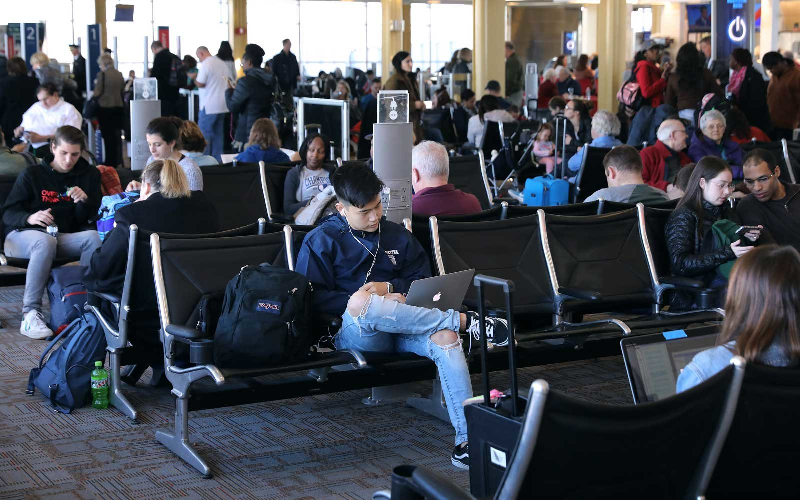 Here are the airports with the shortest and longest wait times around Thanksgiving