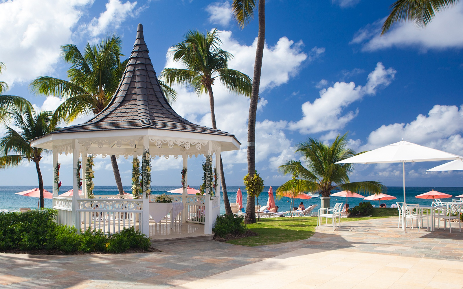 gazebo at The BodyHoliday resort in LeSport, St. Lucia
