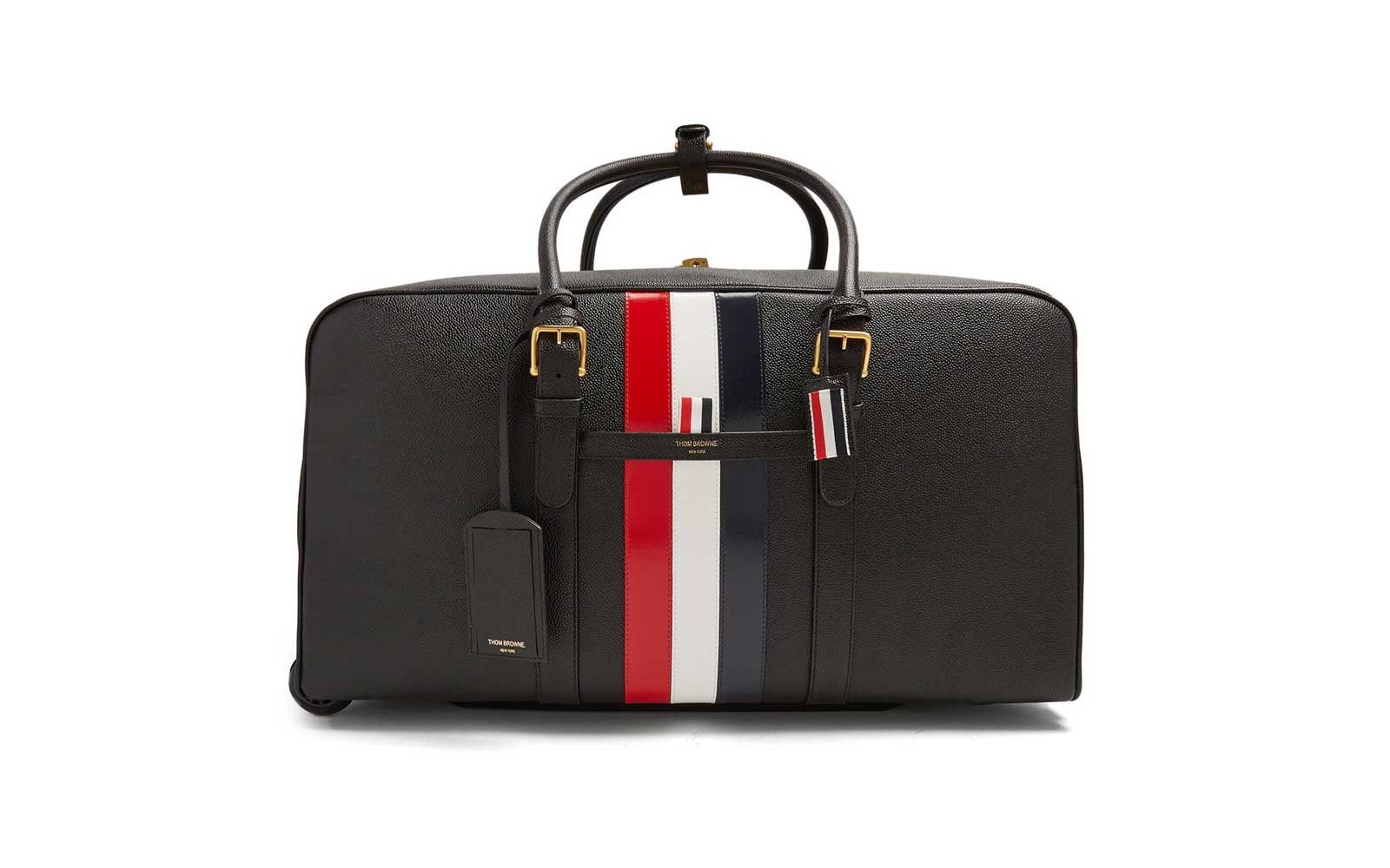 Thom Browne Pebbled-leather Holdall