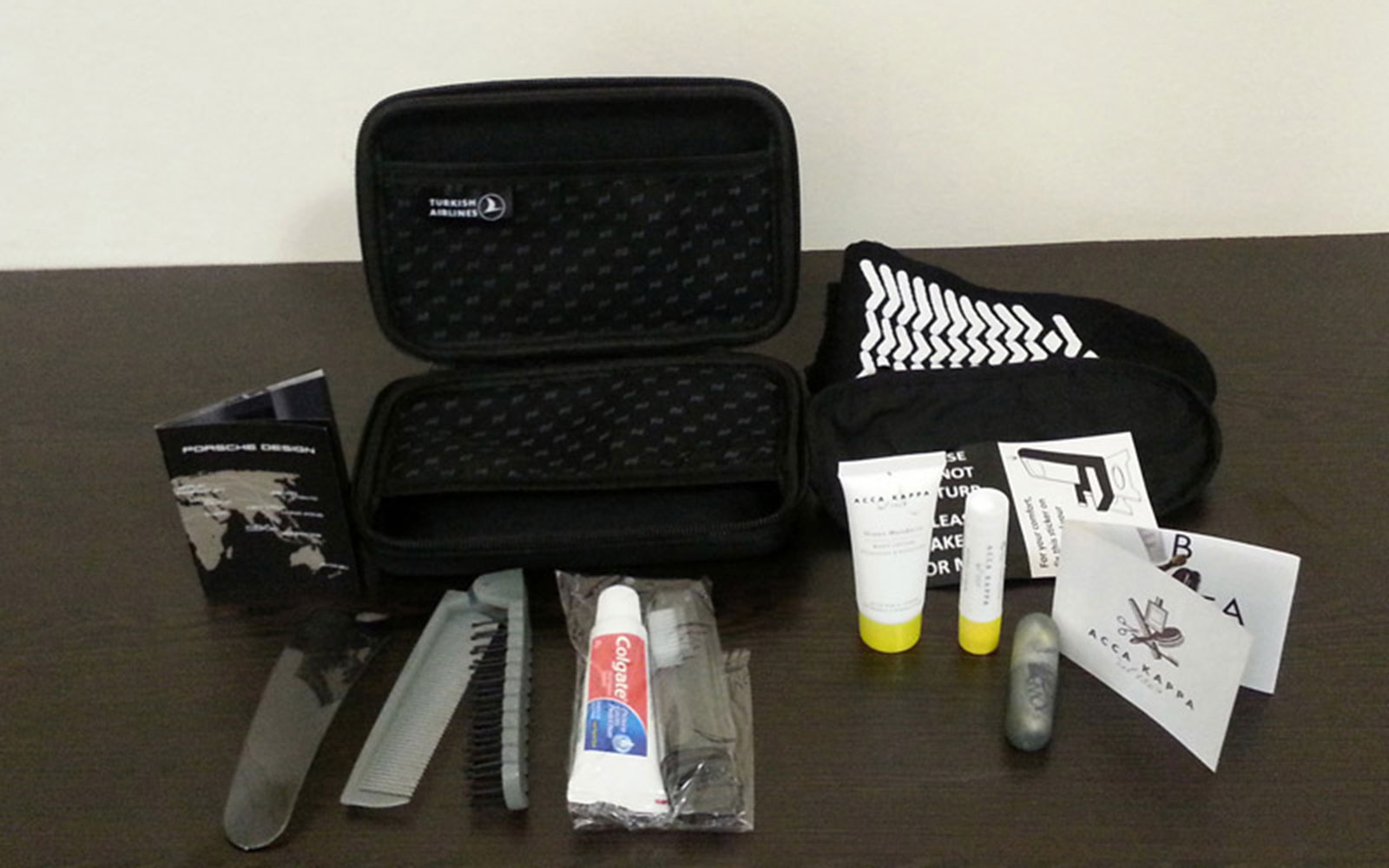 Turkish Airlines: First Class Porsche Amenity Kit