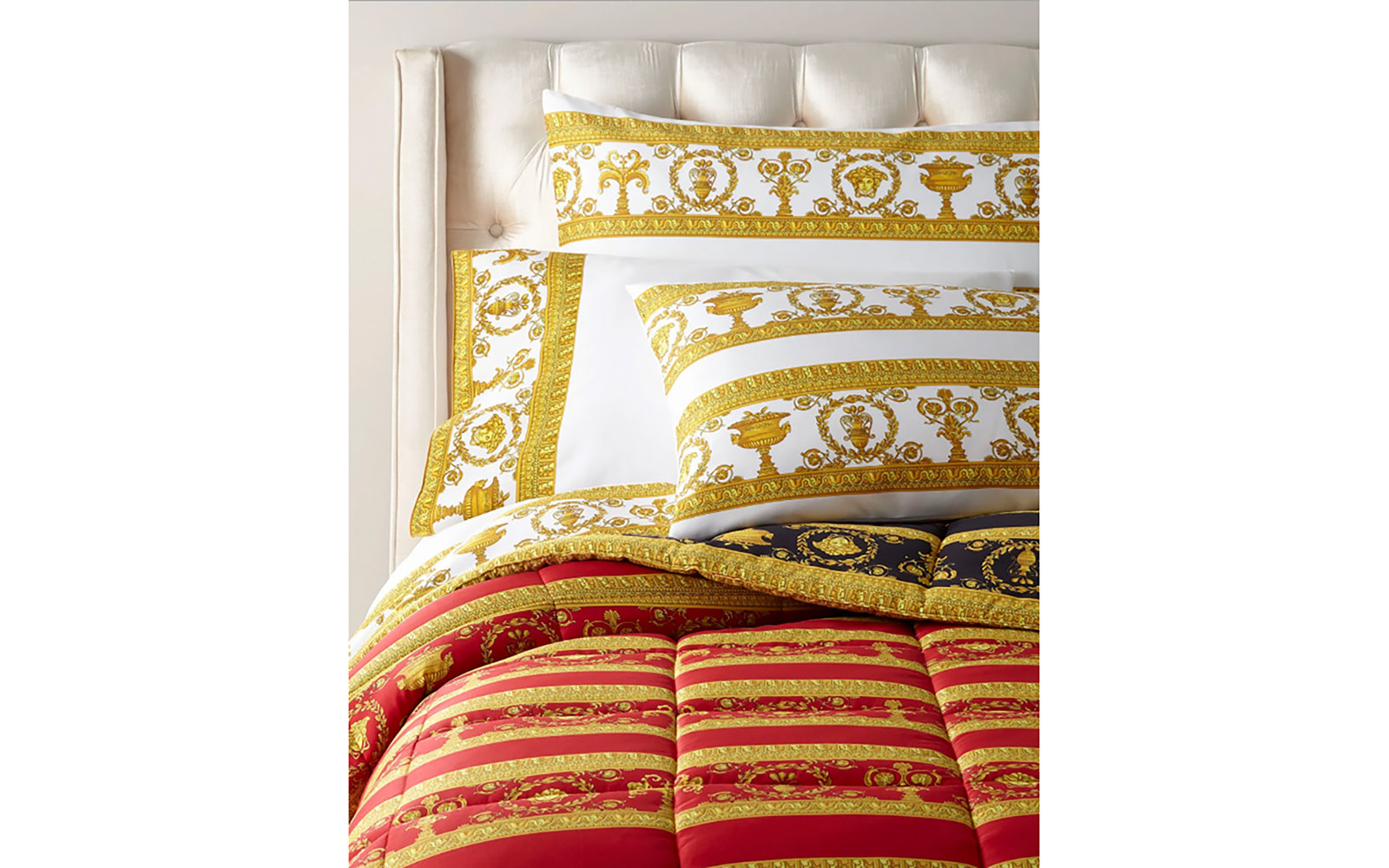 Versace Home Comforter and Pillowcase Bedding