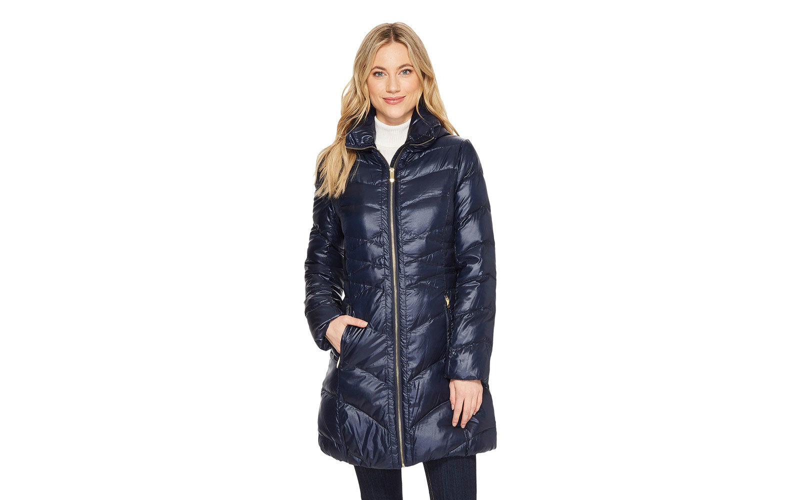 Via Spiga Quilted Packable Down Jacket