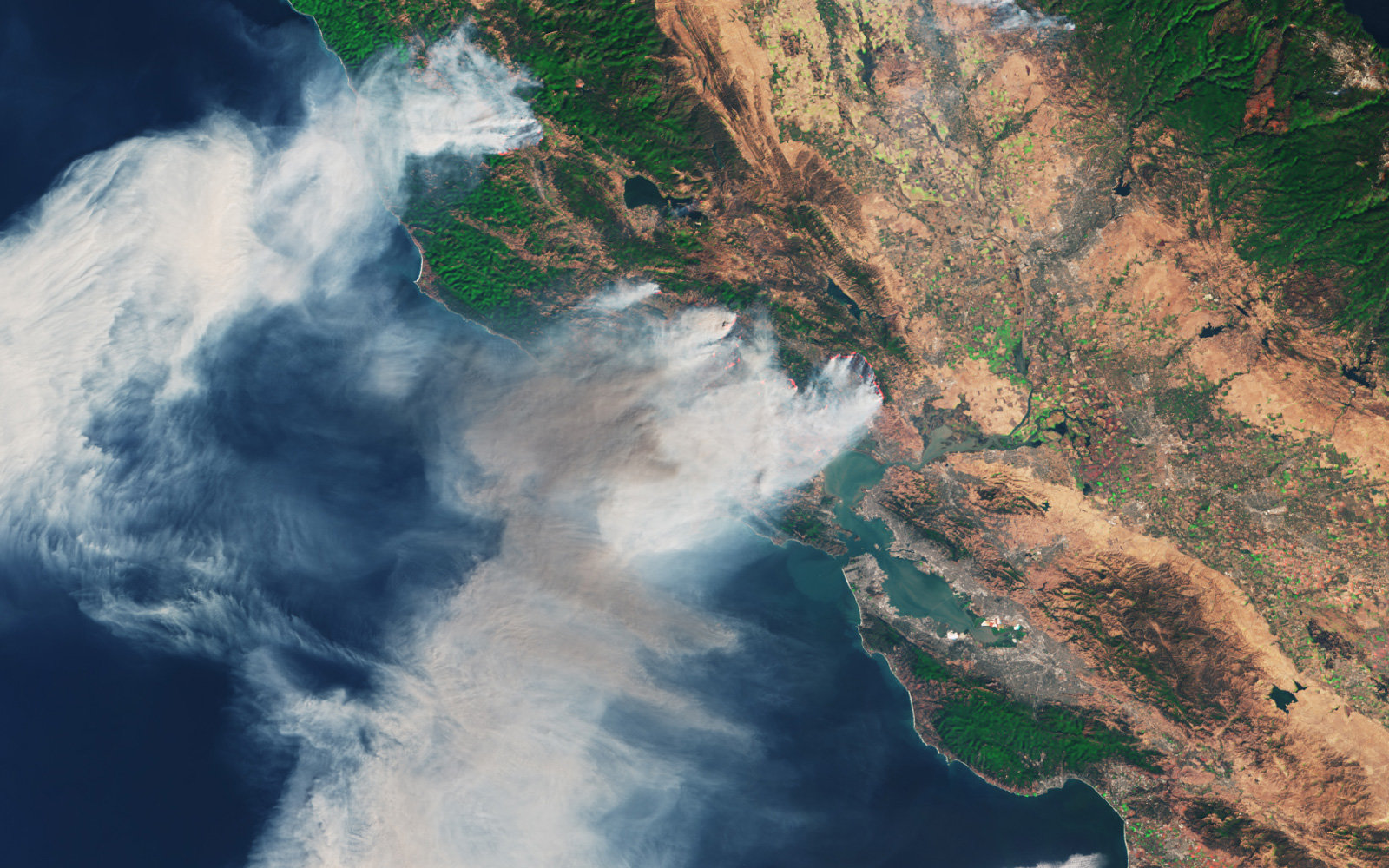 What The California Fires Look Like From Space Video