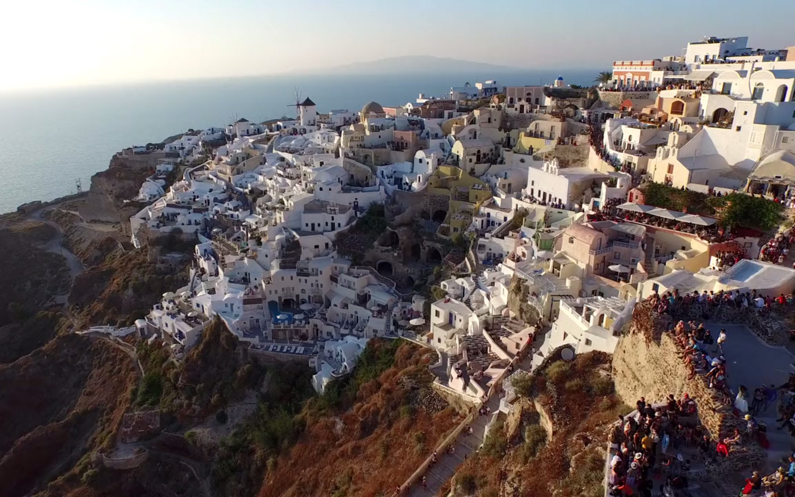 Video A Drone S Eye View Of Santorini Travel Leisure