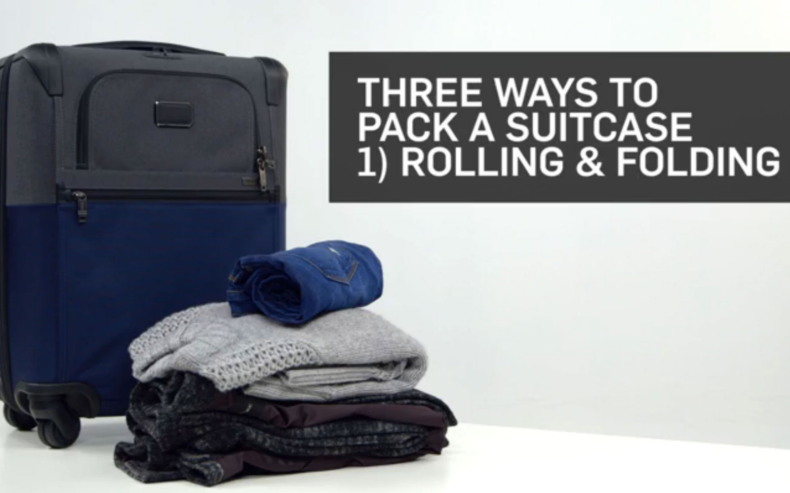 VIDEO: How to Roll and Fold Your Clothes When Packing