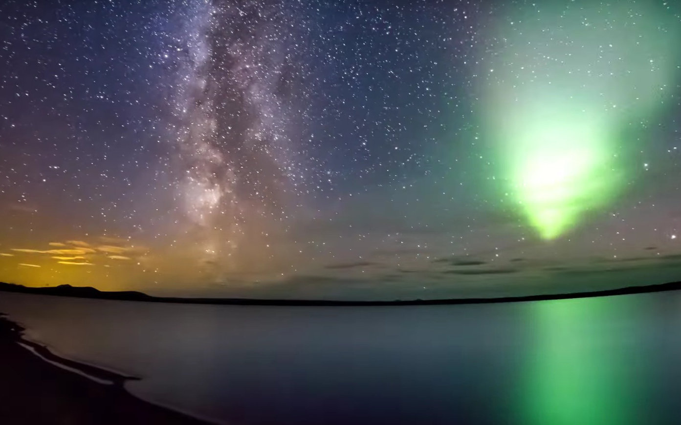 The Ultimate Photobomb: The Northern Lights Steal The Show in This Video of the Milky Way