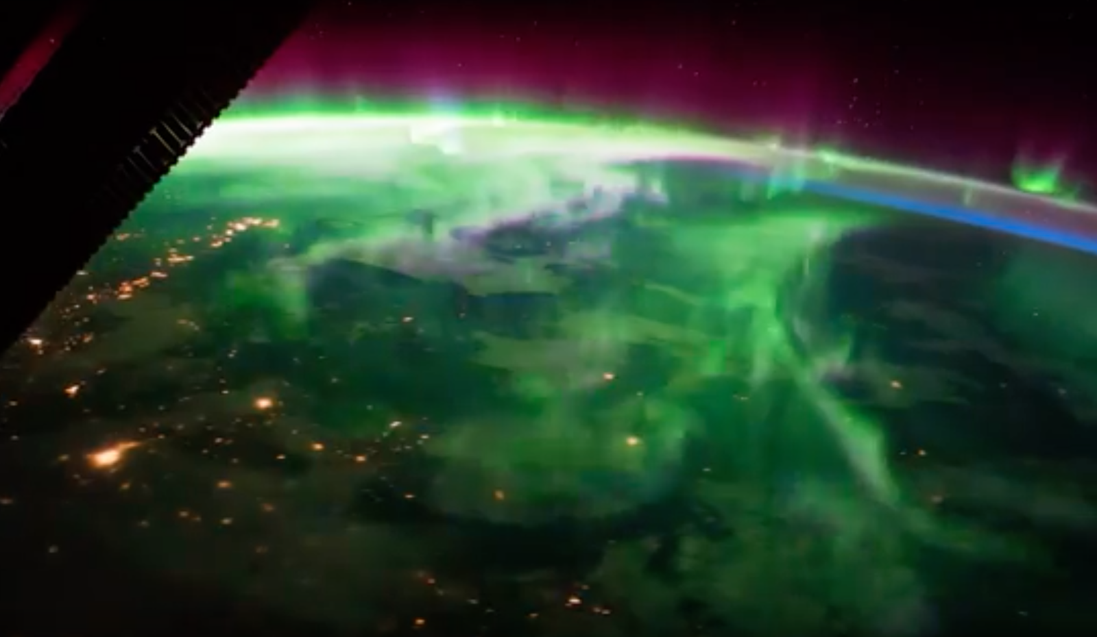 Mesmerizing Timelapse Shows What the Northern Lights Look Like From Space