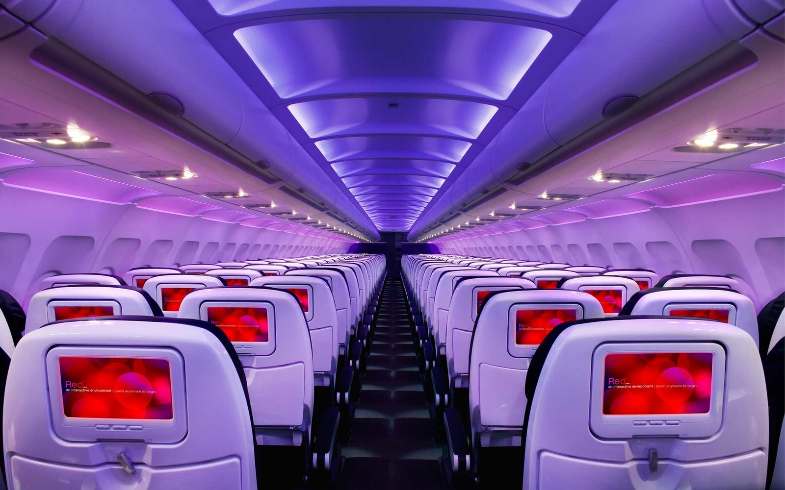Virgin America plane interior